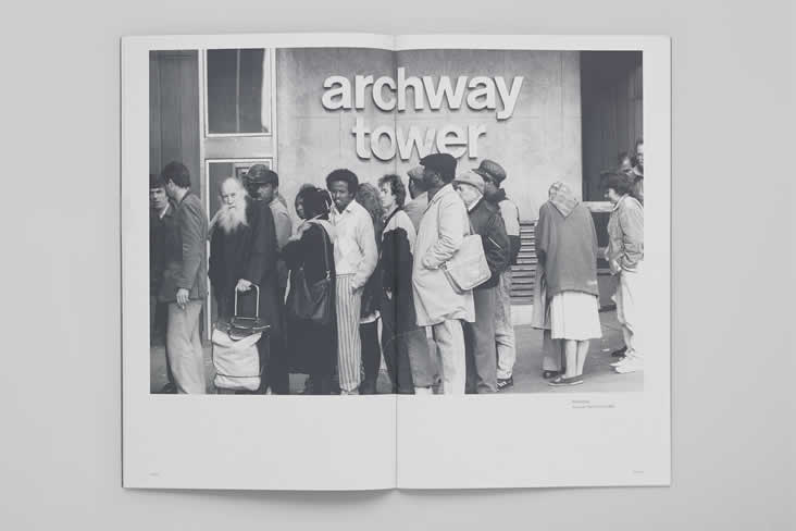 Ruth Ewan, How To Make Archway Tower Disappear, Archway Tower DHSS Dave Sinclair queue
