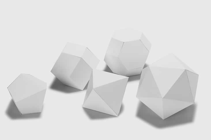 white paper polygon photograph